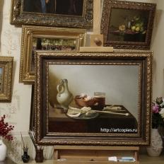 "Копия картины ""Натюрморт с трубками и жаровней"" Питер Класс"