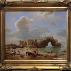 Копия картины «Капри» морской пейзаж Leu, August Wilhelm