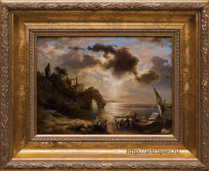 Копия картины «Рыбаки на берегу» Leu, August Wilhelm
