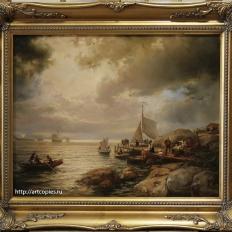 Копия картины «Возвращение в гавань» Х.Гуде