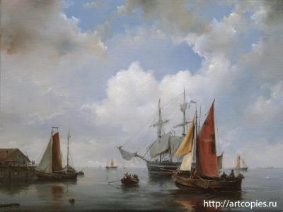 Копия картины морской пейзаж «Голландия» Г.Куккук