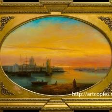 Копия картины И. Айвазовского «Вид на Смольный собор»