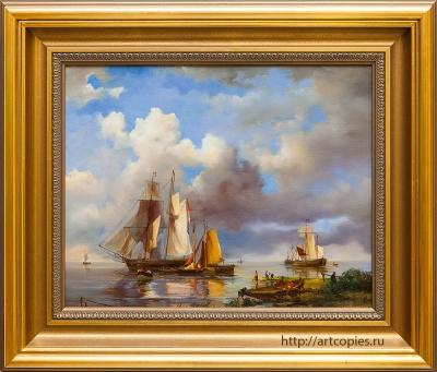 Копия картины «Парусник у берега» Г.Куккук