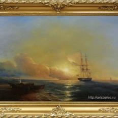 Копия картины И.К.Айвазовского «Рыбаки на берегу моря»