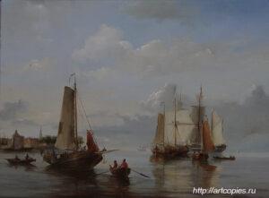 """Копия картины """"Морской пейзаж"""" Куккук."""