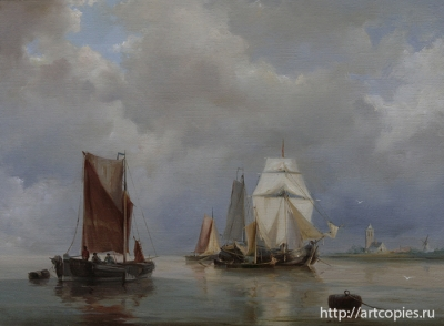 Копия картины морской пейзаж Г.Куккук