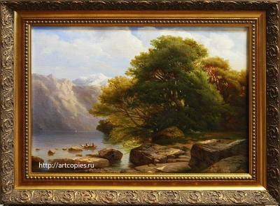 """Копия картины """"Пейзаж с озером"""" Каллам А."""