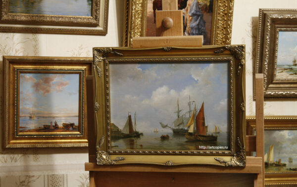 Копия картины «Голландия» морской пейзаж Г.Куккук