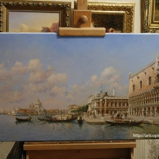 «The Doge's Palace and Santa Maria della Salute» Federico del Campo