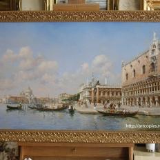 """""""The Doge's Palace and Santa Maria della Salute"""" Federico del Campo"""