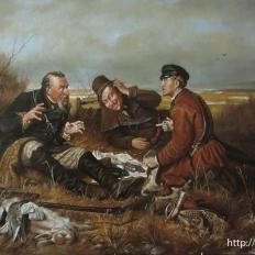 «Охотники на привале» В.Г.Перов