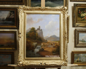 Копия картины Andreas Schelfhout Landscape with Ruin