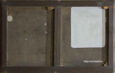 Сборный (модульный) подрамник 19 века. Картина поступила к нам на реставрацию.