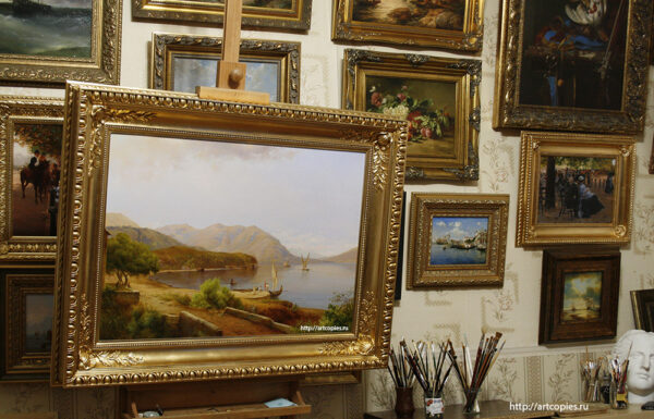 "Копия картины ""Motif near San Felice on Lake Garda"" Louis Gurlitt"