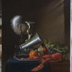 «Натюрморт с наутилусом и омаром» Ян Давидс де Хем