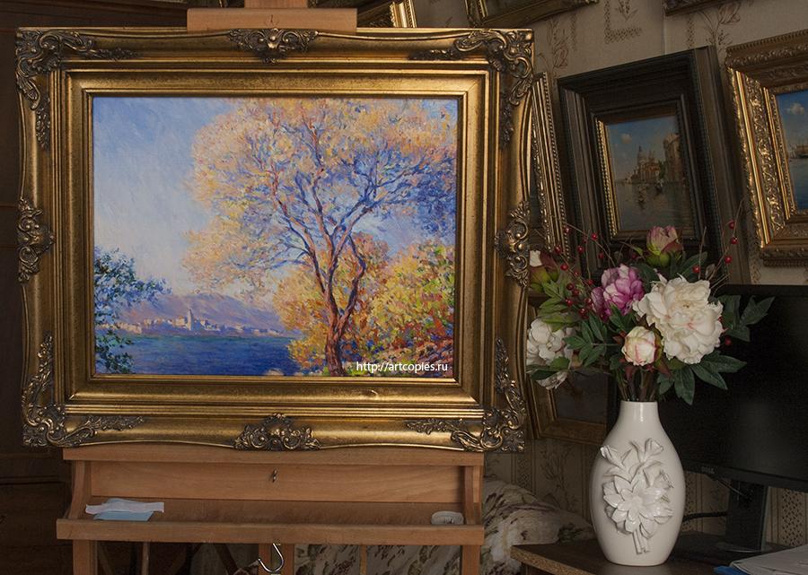 """Купить копию картины К.Моне """"Антиб, вид из садов Салис"""""""