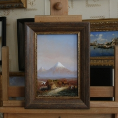 Копия картины «В горах. Вид на Арарат» И.Занковский (фрагмент)