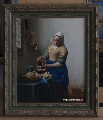 Копия картины «Молочница» Я. Вермеер