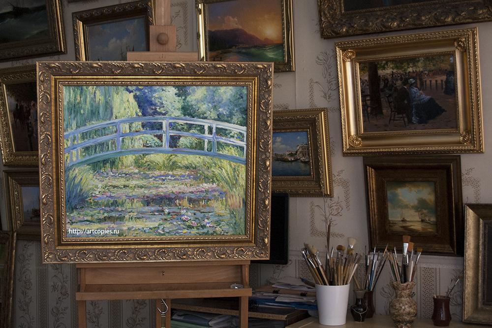 """Купить копию картины маслом на холсте """"Японский мостик"""" Клод Моне"""