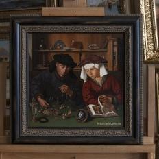 Копия картины «Менялы и ростовщики» Massys, Quentin