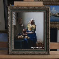 """Купить копию картины маслом на холсте """"Молочница"""" Я. Вермеер"""