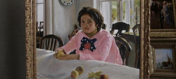 """Копия картины """"Девочка с персиками"""" В.Серов."""