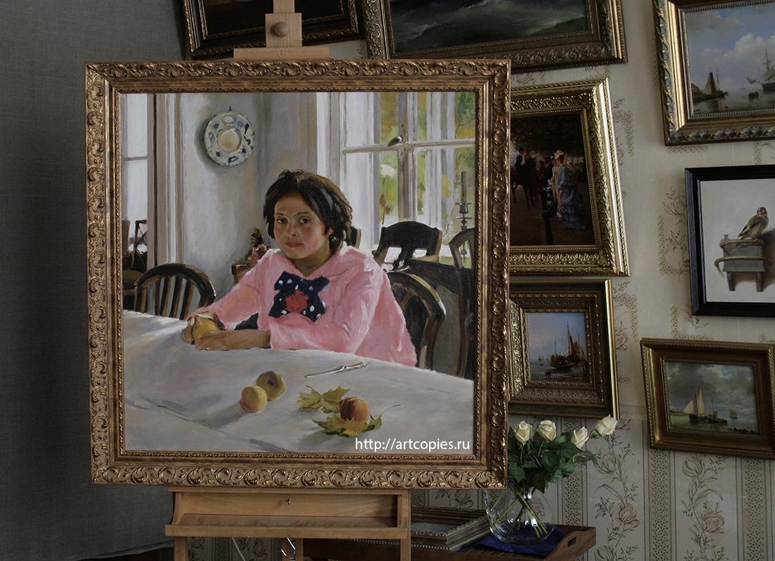 """Копия картины """"Девочка с персиками"""" В.Серов"""
