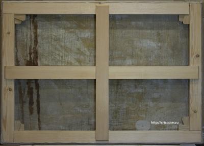 Современный модульный подрамник, тыльная сторона картины после реставрации