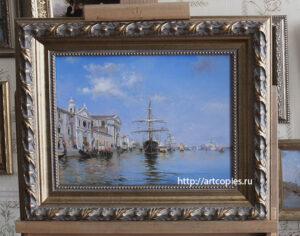 Копия картины Canal dela Giudecca, Veneza- Federico del Campo