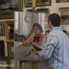 """Копирование картины """"Девочка с персиками"""""""