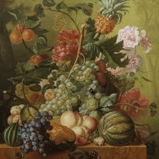 "Купить копию картины ""Fruit and Flowers"" Paulus Theodorus van Brussel"
