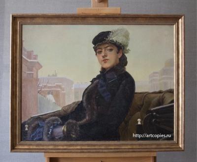 """Копия картины """"Незнакомка"""" после реставрации"""