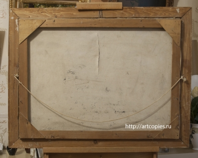"""Тыльная сторона картины """"Незнакомка"""" до реставрации"""