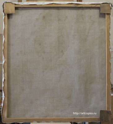 Тыльная сторона картины до реставрации