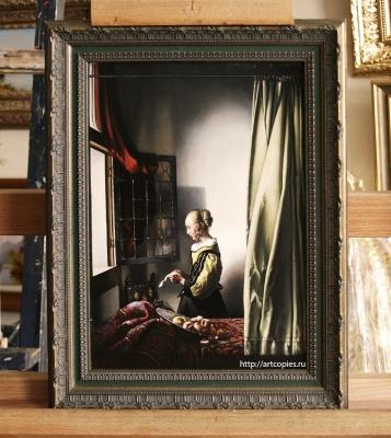Копия картины «Девушка, читающая письмо у открытого окна» Я.Вермеер