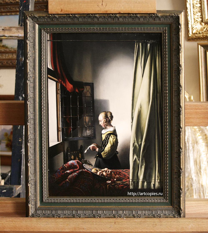 """Копия картины """"Девушка с письмом у открытого окна"""" Я.Вермеер"""