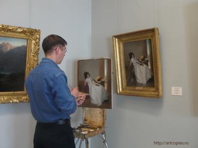 Копирование картины в Государственном музее Эрмитаж, художник Шумайлов Д.А.