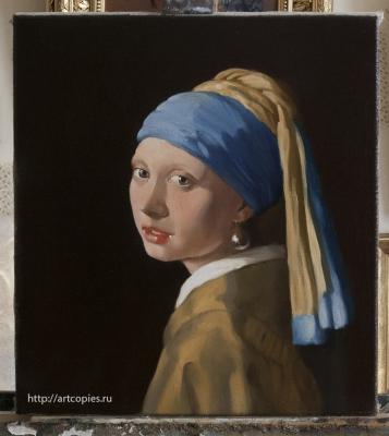 Копия картины «Девушка с жемчужной серёжкой» Я.Вермеер