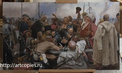 """Копия картины """"Запорожцы пишут письмо турецкому султану"""" И.Репин"""