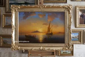 """Копия картины """"Неаполитанский залив"""" Айвазовского И.К."""