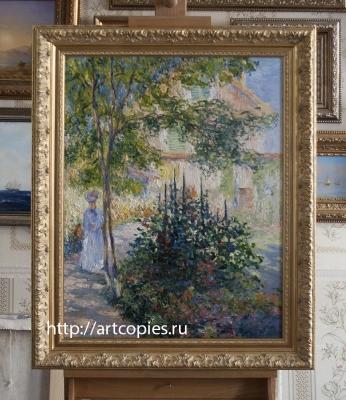 Копия картины «Камилла Моне в саду у дома в Аржантёе» Клод Моне