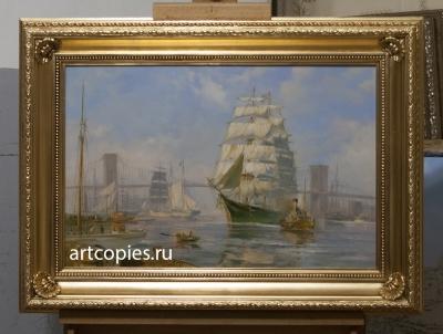 """Копия картины """"Морской пейзаж, Нью-Йорк"""" John Stobart"""