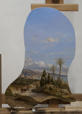 "Копия картины ""The Bay of Naples"" Léon Fleury"