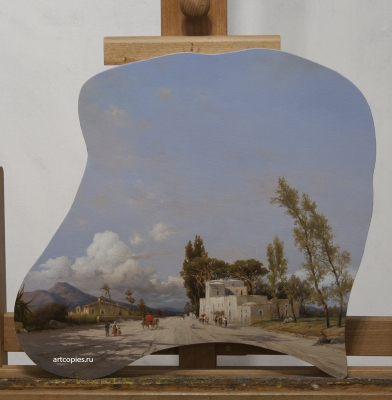 "Копия картины ""Strada di paese"" David Salomon Corrodi"