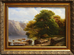 "Копия картины ""The Lake of Thun"" Alexandre Calame"