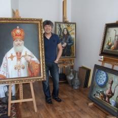 Художник Сабит Нуримов, мастерская художника.