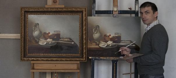 """Копирование картины """"Натюрморт с жаровней"""" П.Клас, художник Гареев М.М."""