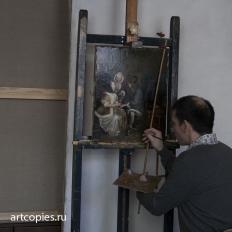"""Копирование картины """"Бокал лимонада"""" Г.Терборх, художник Гареев М.М."""