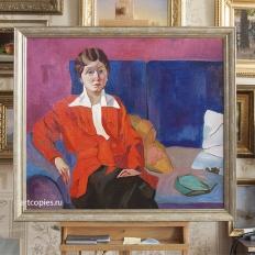Копия картины А.В.Лентулова «Портрет К.П. Рукиной-Лобачевой»