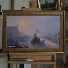 Копия картины И.К.Айвазовского «Раздача продовольствия»